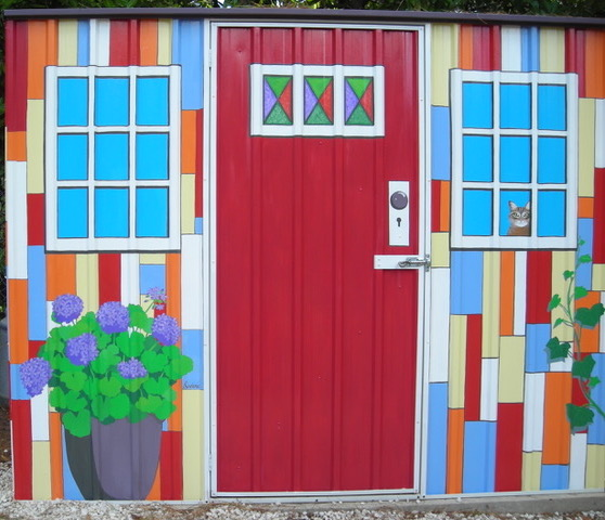 lindena's murals - the shed for jewels